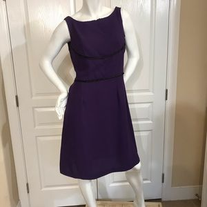 Karin Stevens purple w/ black satin accents dress